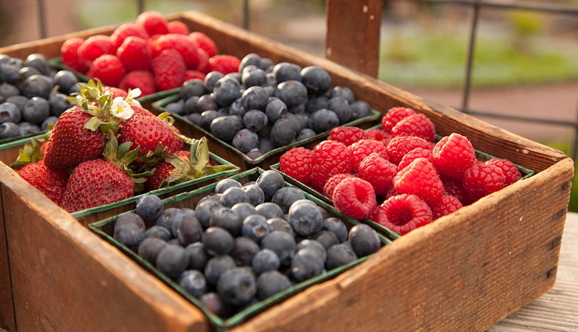 Berries in boxes