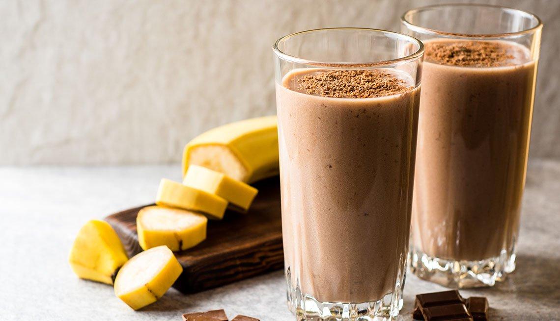 Batido de chocolate y banana