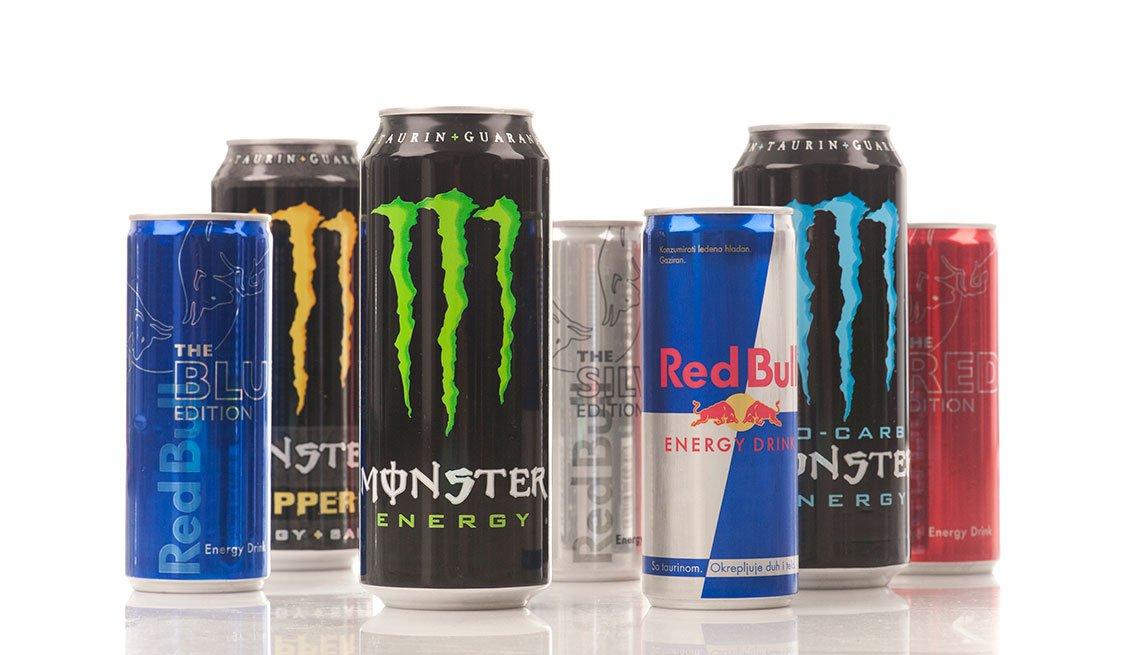 Bebidas energéticas de diferentes marcas