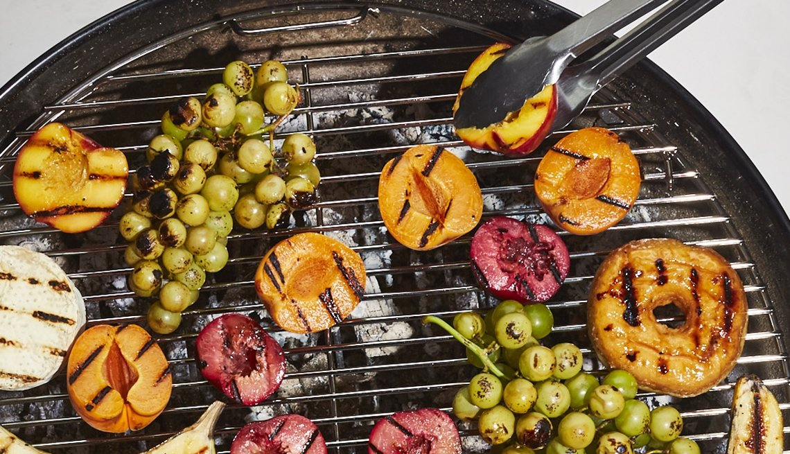 fruit on grill