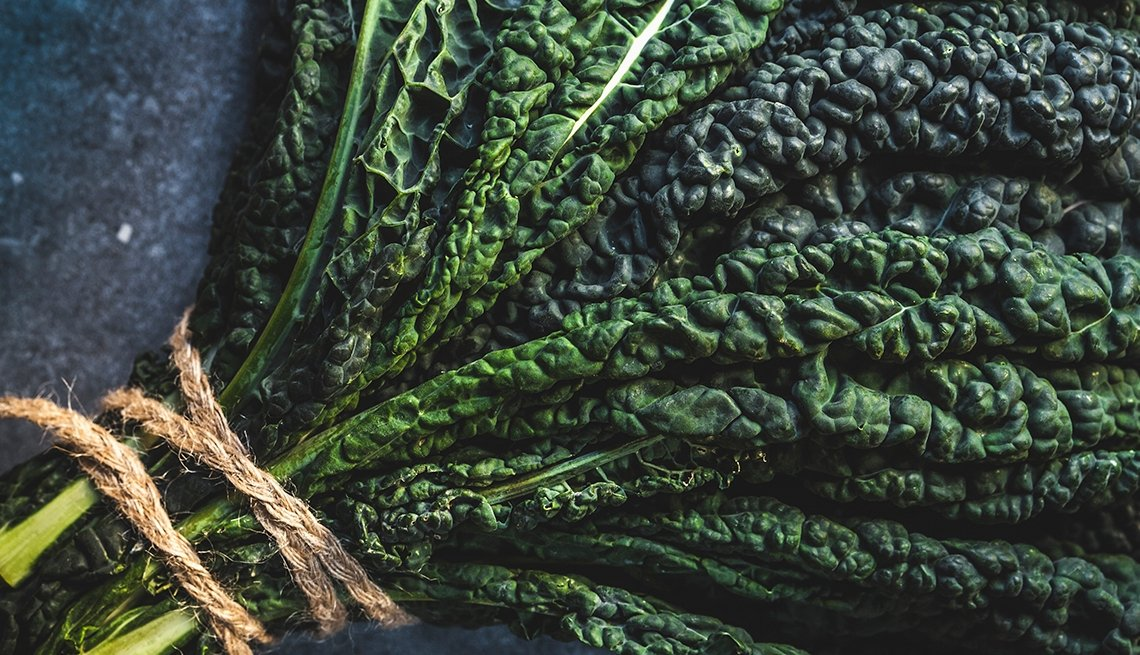 Bundle of fresh kale