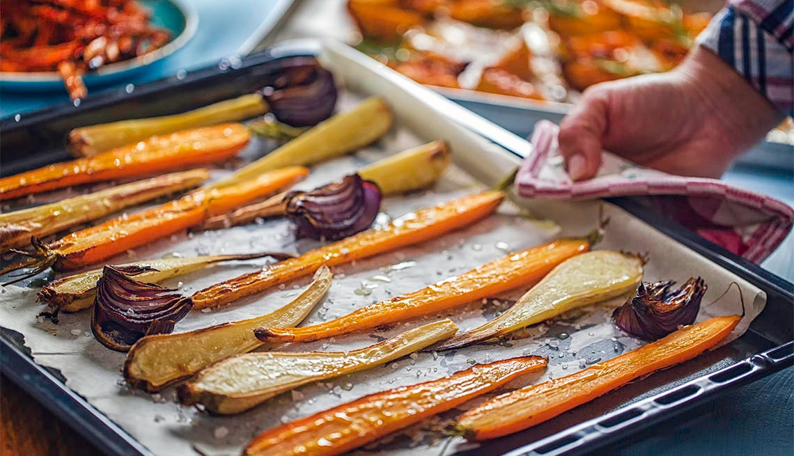 Roasted Root Vegetables Fresh From the Oven