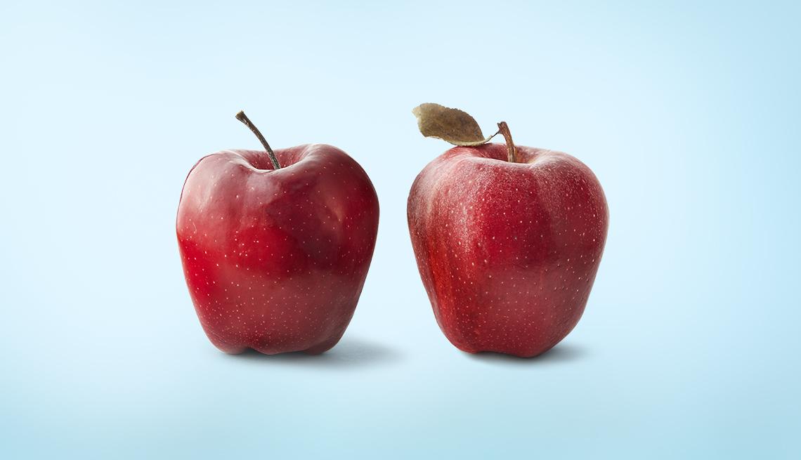 Dos manzanas rojas