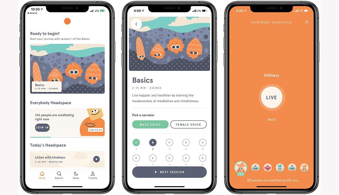 Headspace app screenshots
