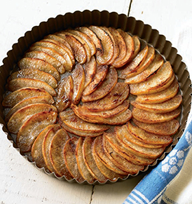Tarta de manzana sin masa