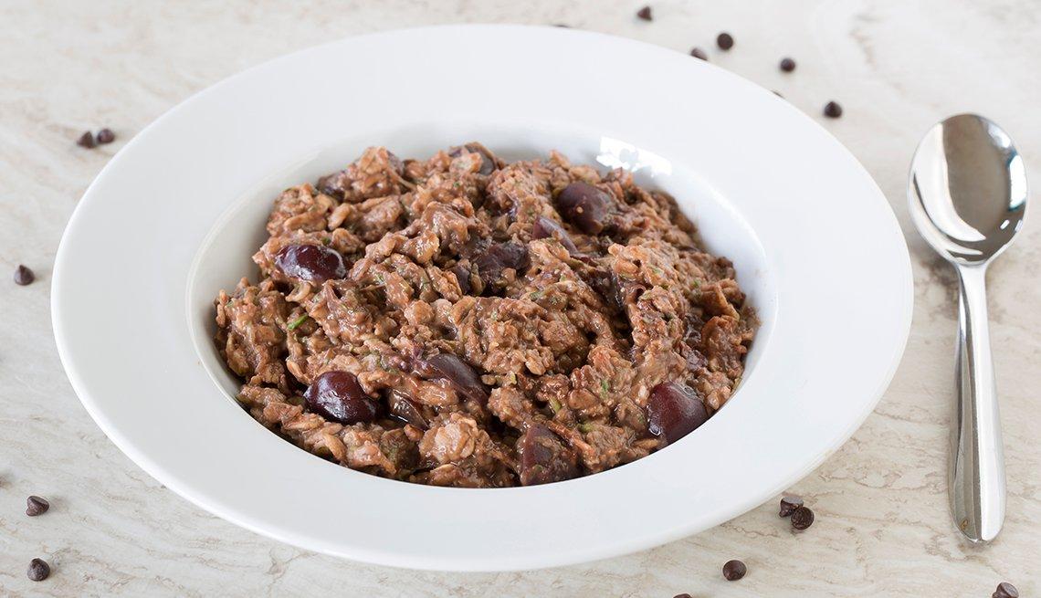 bowl of chocolate cherry zoats