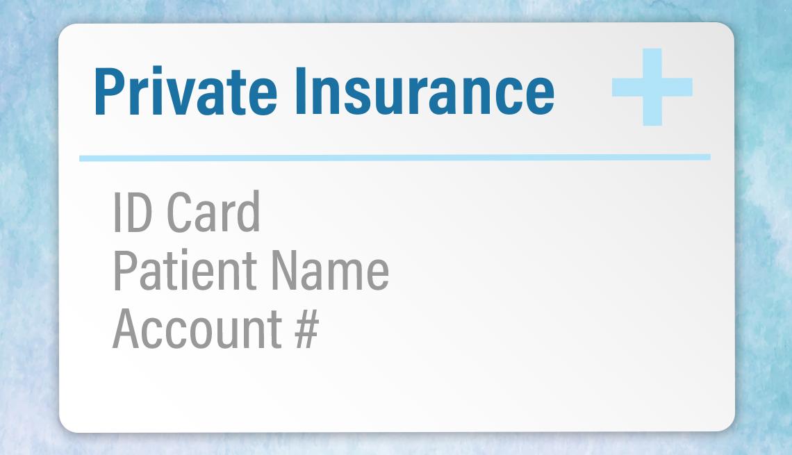 Tarjeta de una aseguradora privada