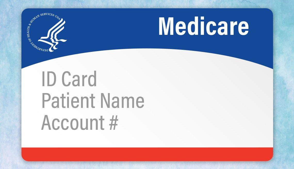 Ilustración de una tarjeta de medicare