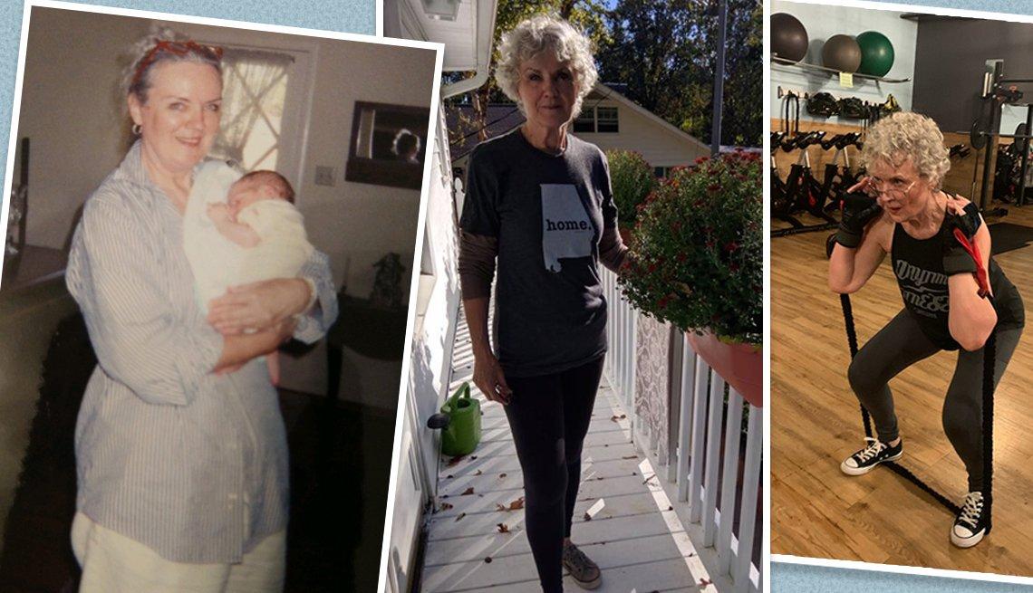 El antes y después de la pérdida de peso de Gail Lind