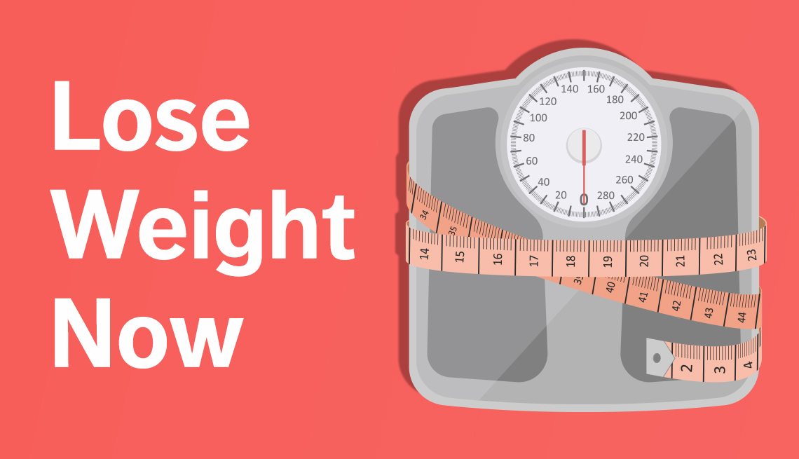 bathroom scale illustration with the text lose weight now
