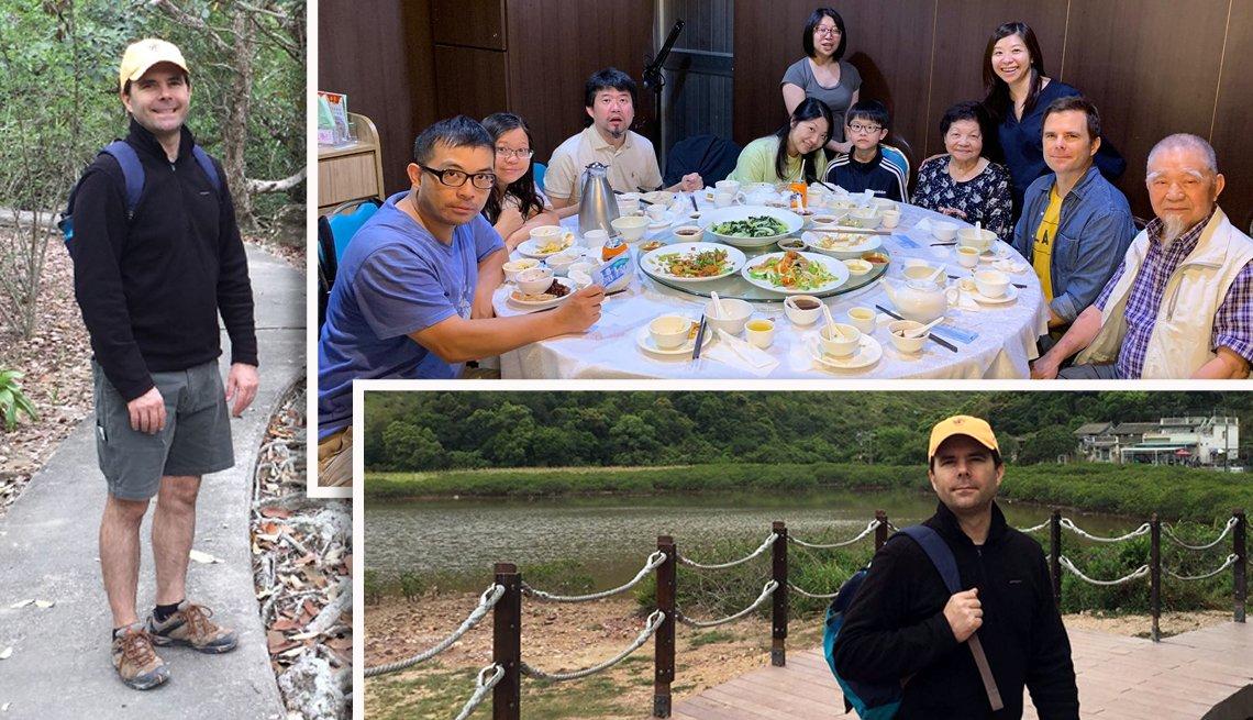 Varias fotos de Charlie Schroeder y su viaje a Hong Kong