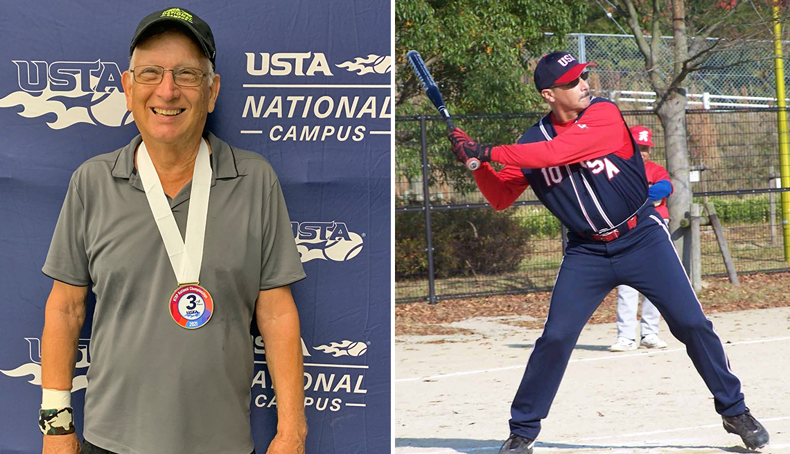 two competitive amateur athletes bill cordes (left) and terry hennessey (right)