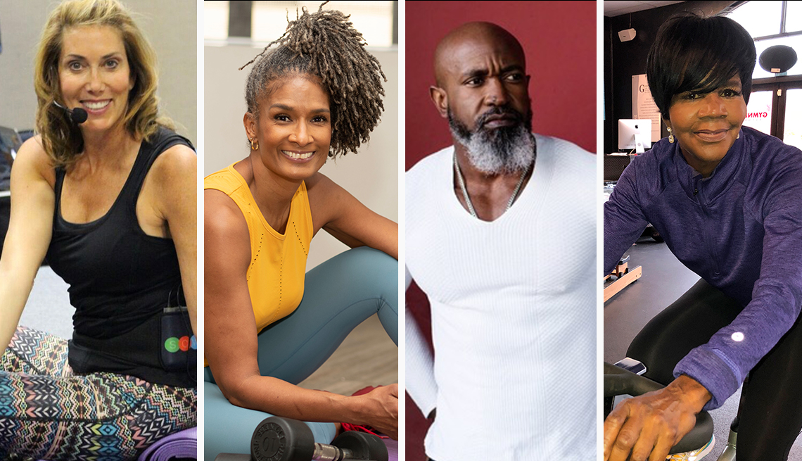 from left to right fitness influencers sara kooperman carla kemp jean titus and ellen ector