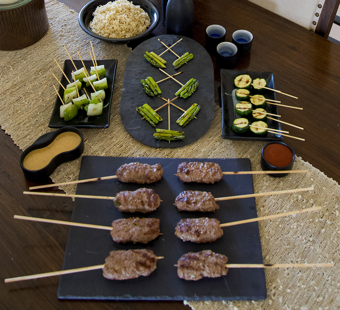 yakitori beef skewers