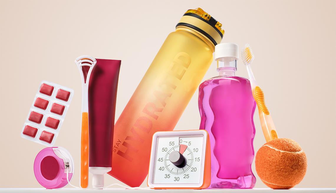 Varios productos para el cuidado de la salud dental