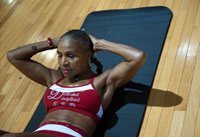 Ernestine Shepherd, 74, competing in a bodybuilding competition