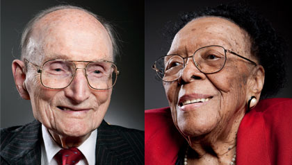 Maryland centenarians Vincent Lindyberg, 100, and Mary Allen, 105