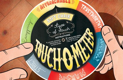 illustration of a touch-o-meter