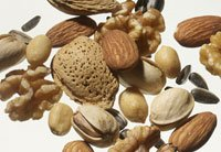 an assortment of healthy nuts