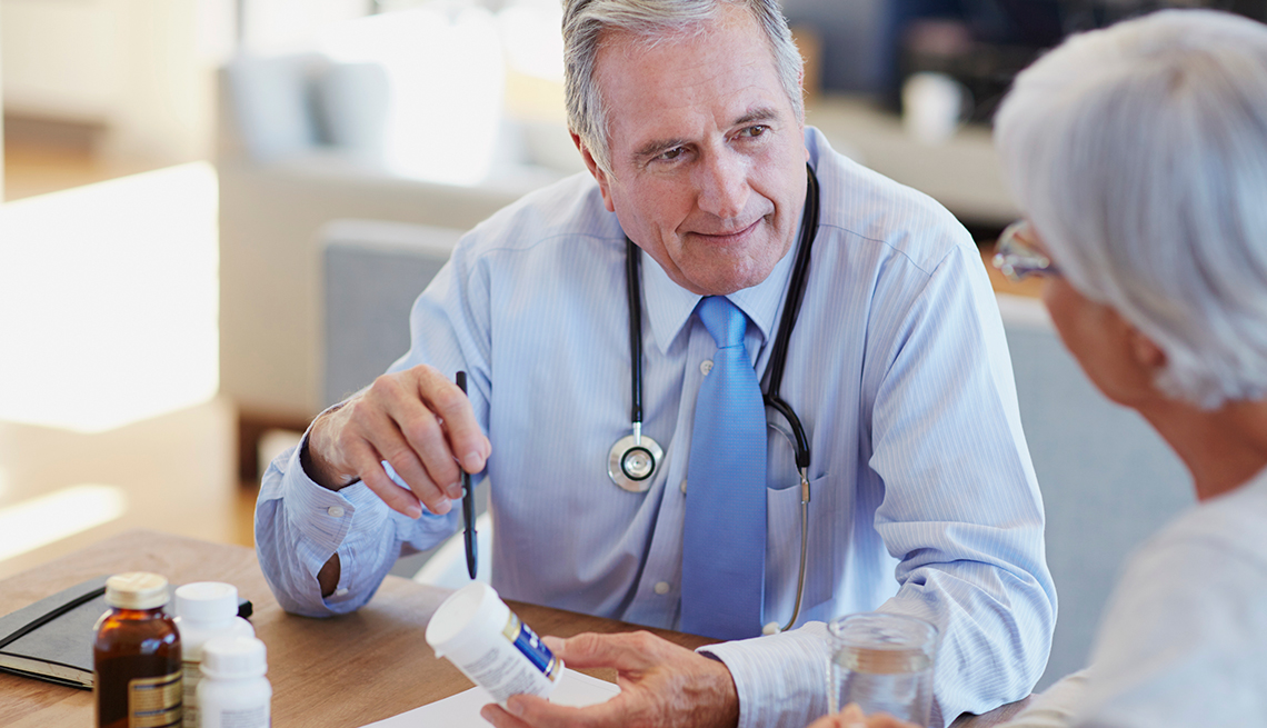 A doctor explains the different ways a patient can get Medicare health and prescription drug coverage.