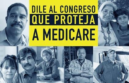 Caras de gente reclamando que se proteja Medicare