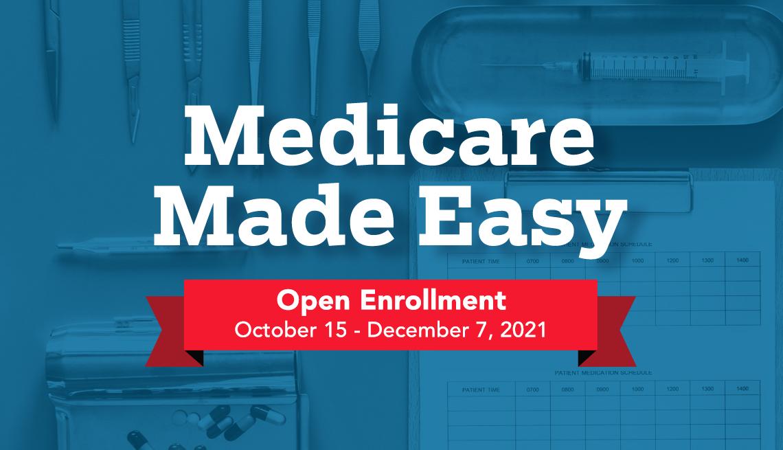 medicare made easy open enrollment is from october fifteenth through december seventh twenty twenty one