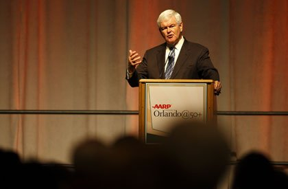 Newt Gingrich at the Member Event in Orlando, FL on October 1, 2010.