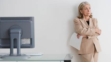 Empresaria con actitud de preocupación, ¿Qué pasa si no ha trabajado lo suficiente para calificar para Medicare?
