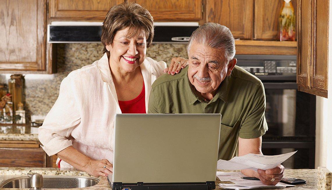 Medicare Open Enrollment Couple Kitchen