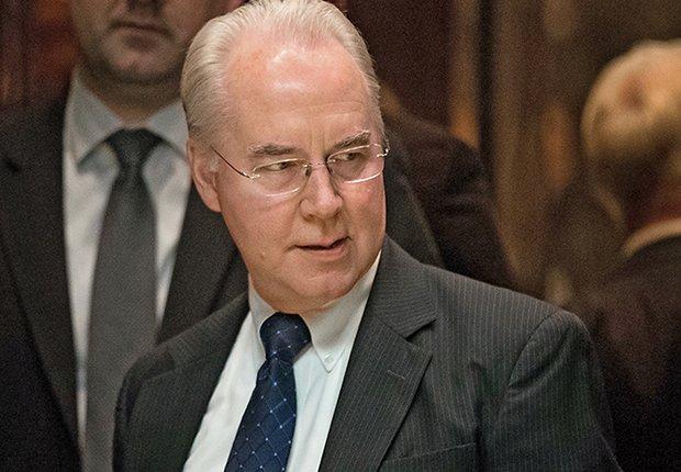 Tom Price, nominado secretario del Departamento de Salud y Servicios Humanos