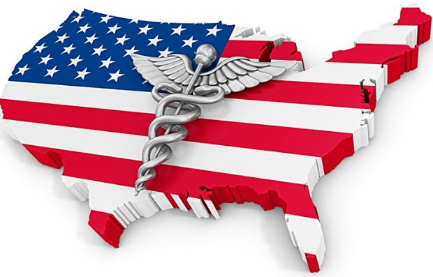 map of the U.S. with flag and caduceus,  Since election day, there's been much speculation about Medicare.