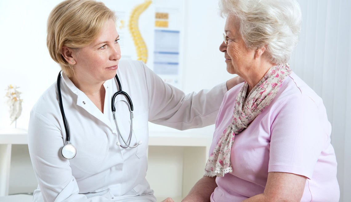 Doctor talking to a senior patient