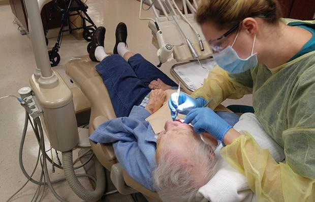 Paciente en el dentista