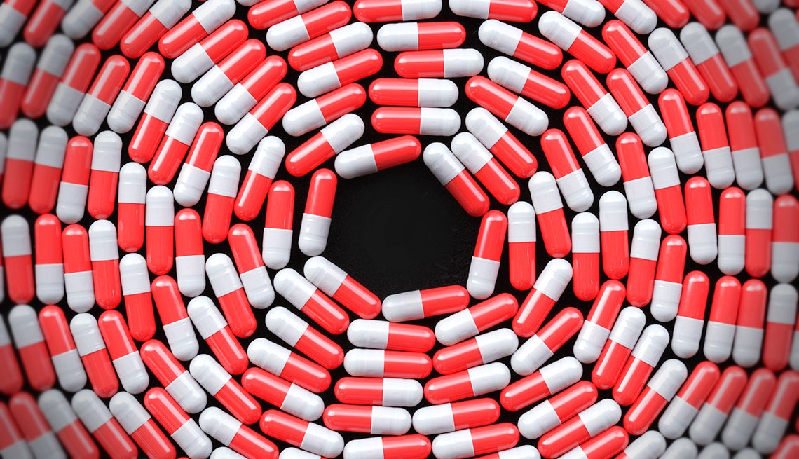 pills in a circle