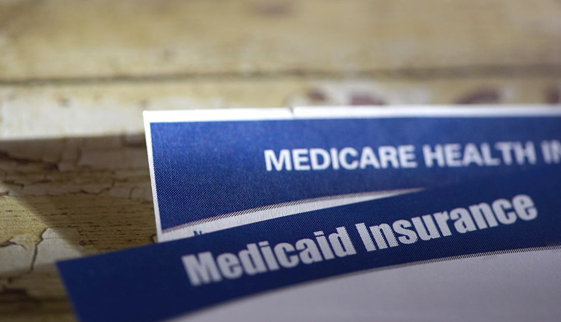 Medicare and Medicaid cards
