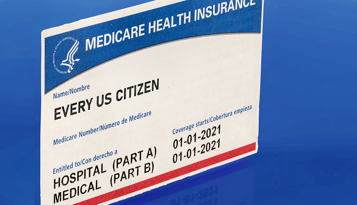 a medicare health insurance sample card