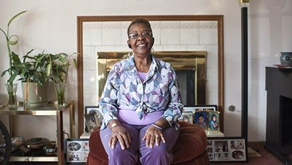 Beverly Rogers poses for a portrait at her home in Country Club Hills, Ill. on Oct. 16, 2012 - Caregiving