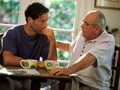 Father talks to son, legal checklist for caregivers