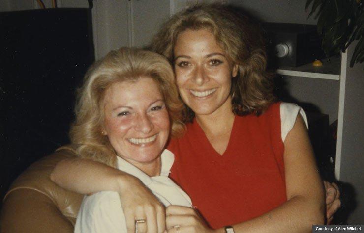 Author Alex Witchel with her mom, Dementia