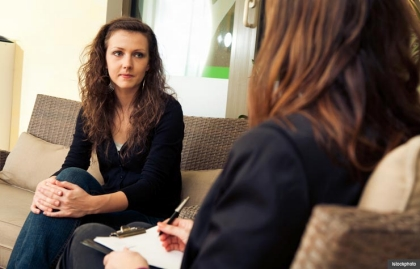 Woman in counseling session with therapist