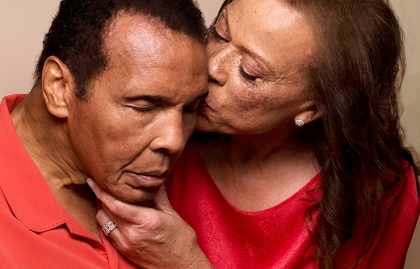Muhammad and Lonnie Ali, caregiving