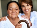 Mature woman and nurse, Long Term Care Quiz