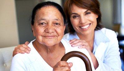 Mature woman and nurse, Long Term Care Quiz