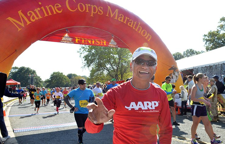 Retired General Tony Taguba ran the Marine Corps Marathon on October 27, 2013 in Arlington, Virginia , Life at 50 (Ramon Talusan)