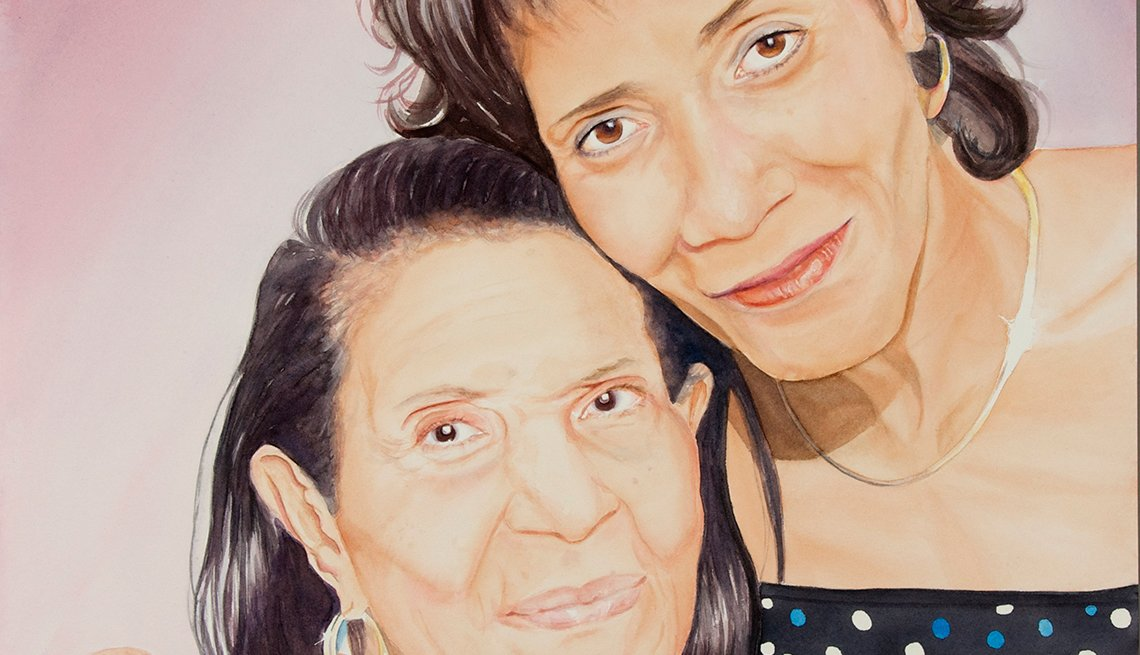 A painting of two woman named Denise and Ruby