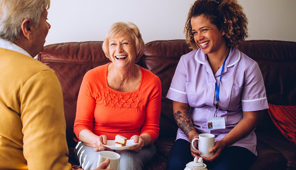 Caregiver Sharing Tea with Patients, Caregiving, 6 Tips for Starting a Caregiving Team,