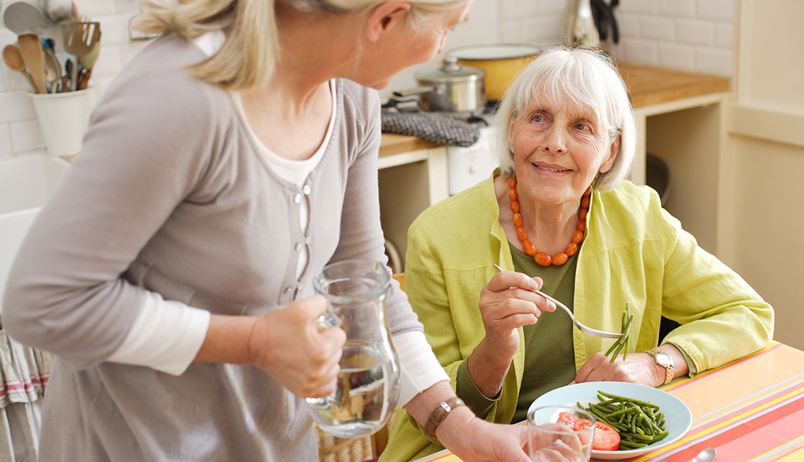 Senior Women Talk, Water with Lunch, Caregiving Nutrition and Wellness