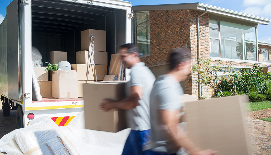 Movers Load Moving Truck, Moving Your Loved One, Family Caregiving Project