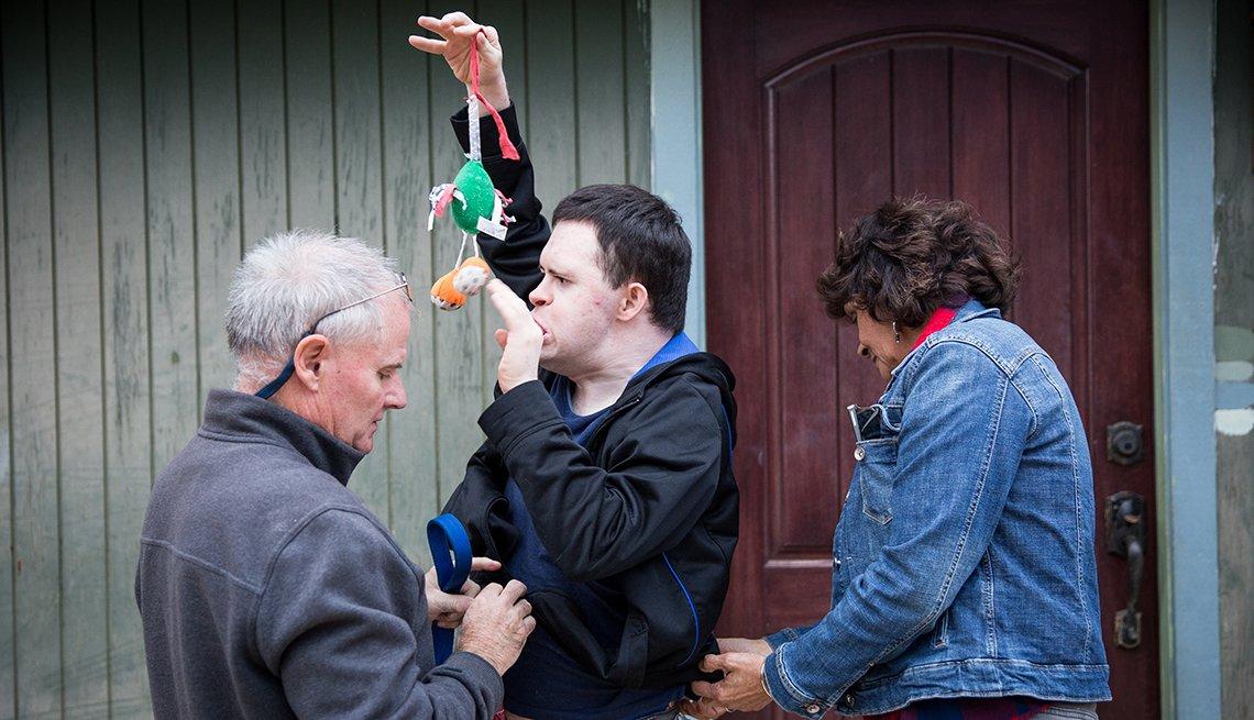 Los Conover cuidan de su hijo Kevin