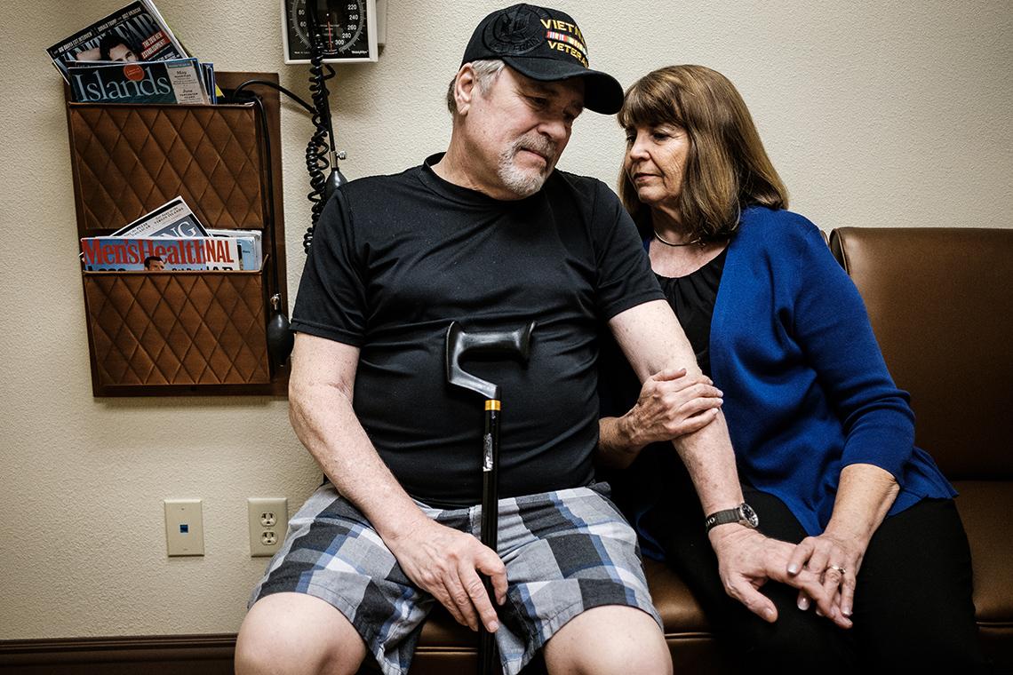 Navy veteran Randy Srpague and wife Debbie